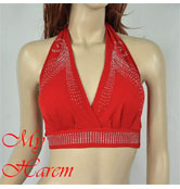 top halter rosso